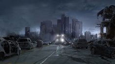 Best Post Apocalyptic Pictures gallery of digital art. I scan homepages of digital artists all over the world for post apocalyptic pictures (artworks) and publish the best ones on the site. Los Angeles Pictures, Post Apocalyptic City, Arte Zombie, Apocalypse Now, Ruined City, Street Background, Digital Art Gallery, Night Pictures, Image Digital