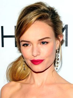 Kate Bosworth Hair & Pink Lipstick