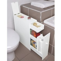 Narrow Cabinet With Drawers For The Bathroom Wish It Wasn T So Expensive Though We Could Do This Beside Toilet