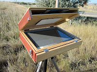 Jim Serrett has images of other artists' pochades (little plein air painting boxes) and plans to make your own