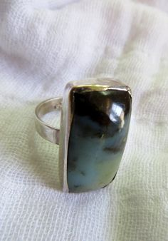 Peruvian Opal rectangle stone set in Sterling silver by Perunz, $50.00