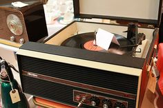 A Lovely Bush Record Player shown at the Bethnal Green Furniture Flea which has gone to a new home!