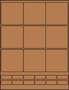 "2.75"" Square Brown Kraft label sheet from #www.KraftOutlet.com  $.79 per sheet"