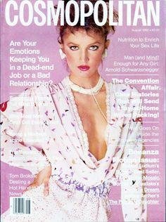 Anne Bezamat - Cosmopolitan August 1982 by Scavullo 80s Fashion, Fashion Photo, Womens Fashion, Fashion Magazine Cover, Magazine Covers, Magazine Art, Cosmo Girl, 90s Models, Cosmopolitan Magazine