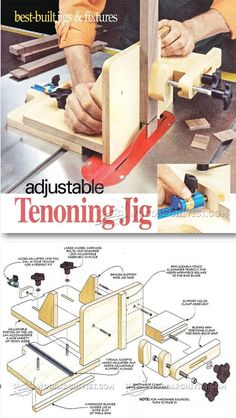 Adjustable Tenoning Jig Plans - Joinery Tips, Jigs and Techniques   WoodArchivist.com