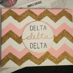 Just made this for one of my family members!! #tridelta #crafts #canvas