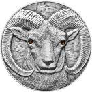 Mongolia 2013 500 togrog Argali - Ovis ammon Wildlife Protection Antique finish Silver Coin