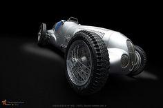 MERCEDES W125 1937 Silver Arrow No 4