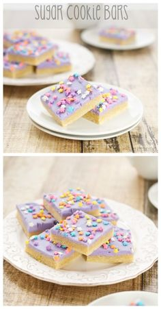 Sugar Cookie Bars…soft, chewy and loaded with a thick frosting! And they're a cinch to make too!