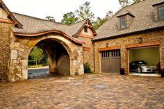 South Carolina Mountain Home Courtyard by Gabriel Builders