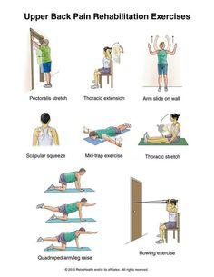Upper back pain rehab excercises