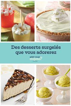 Congelé #recette Freeze, Sorbets, Frozen Desserts, Saveur, What To Cook, Popsicles, Vanilla Cake, Camembert Cheese, Sweet Treats