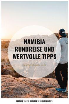 Namibia ist ein grossartiges Land mit vielen Highlights im landschaftlichen Bereich sowie auch in der Tierwelt. Unser Blog informiert dich über unsere 14-tätige Route und gibt dir weitere hilfreiche Tipps, wie beispielsweise zur besten Reisezeit. Namibia, Highlights, Journey, Tours, Blog, Movies, Movie Posters, Travel, Helpful Tips