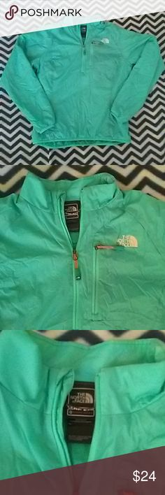 North face Pullover Teal Polyester pullover on nearly perfect condition. Perfect for outdoor winter activities! The North Face Sweaters