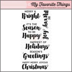 My Favorite Things Clear Stamp - Joyous Christmas Sentiments