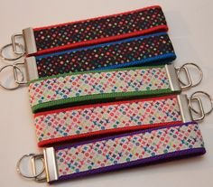 Louis Vuitton Inspired Colourful Rainbow Keychain Wristlets You Pick. $6.00 each. Find Bonzai Gifts on Facebook for more!