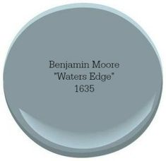 Our Favorite Coastal Blue Paint Colors for Your Home Benjamin Moore Waters Edge Blue Paint Colors, Paint Color Schemes, Interior Paint Colors, Paint Colors For Home, Wall Colors, House Colors, Interior Design, Interior Painting, Neutral Colors