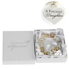 Juliana Gold Silver Charm Bracelet With Heart Daughter