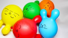 LEARN COLORS with Balloons - Finger Family Nursery Rhymes for Kids - Bab...