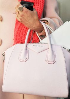 Pink Handbags:  With the many shades of pink bags available, it's just a matter of picking the right hue for your outfit. - glamradar.com