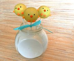 Cake Pops - Baby Chick Cake Pops for Baby Shower