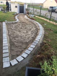Terrasse En Pavésbordure Дорожки Pinterest Driveways - Comment faire une terrasse en pave autobloquant