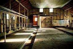 Inside old dairy barn Draper, Utah