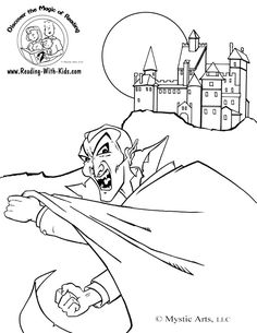 Vampire Coloring Page Find This Pin And More On Halloween Witches