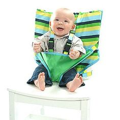 Throw this in your diaper bag instead of bringing your carseat in a restaurant.