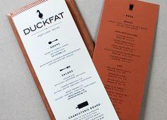 Duckfat menu design