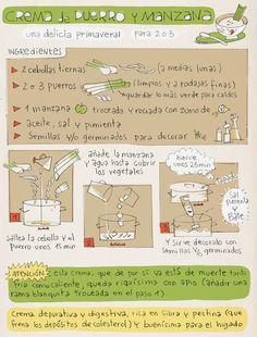 """""""Platillos"""" volantes: Crema de puerro y manzana"""