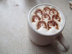 Coffee STENCIL Penguin Adventures by CosmicEmotions on Etsy, $18.00 Wow, how does this work? This is amazing