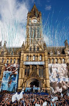 manchester city football club celebrates premier league 2012