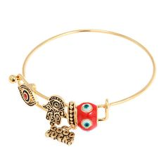 BEST OF LUCK CHARM BANGLE