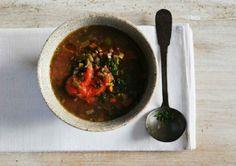 Hoy para comer te proponemos esta #receta de caldo con calabaza y almejas