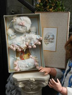 beautiful french antique doll clothes | Beautiful French Presentation-Box with Winter Set for Jumeau ...