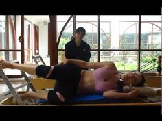 Pilates Reformer Routine. I lost the DVD for my reformer. This is perfect.