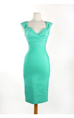 Pinup Couture - Erin Dress in Mint   Pinup Girl Clothing