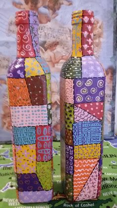 Garrafas recicladas decoradas #artesaniasrecicladas