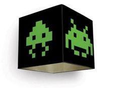Meninos Space Invaders Lampshade - 16 Rad Retro Gaming Accessories for Your Home or Office