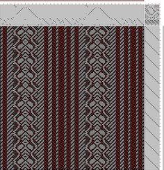 Hand Weaving Draft: Figure 3152, Atlas de 4000 Armures, Louis Serrure, 23S, 16T - Handweaving.net Hand Weaving and Draft Archive