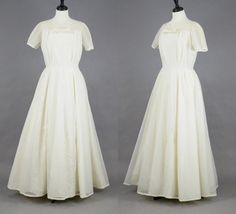1950s Wedding Dress 50s Prom Dress 50s Floor by daisyandstella