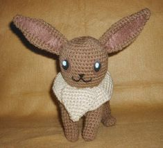 Join in the Pokemon resurgence with this crochet Pokemon Look Alike Eevee plush. This easy crochet pattern will show you how to work up your very own feisty Eevee amigurumi. Using the crochet magic circle technique and single crochet stitches, your c Eevee Pokemon, Pokemon Craft, Pokemon 2000, Pokemon Crochet Pattern, Plush Pattern, Crochet Patterns Amigurumi, Crochet Dolls, Free Pattern, Cute Crochet