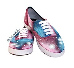 Blue and Pink Galaxy Shoes