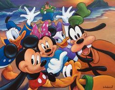 Mickey And The Gang Selfie by Jim Warren