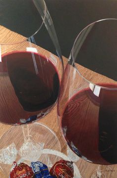 """""""The Solution: Wine and Chocolate"""" 30"""" x 20"""" oil on canvas."""