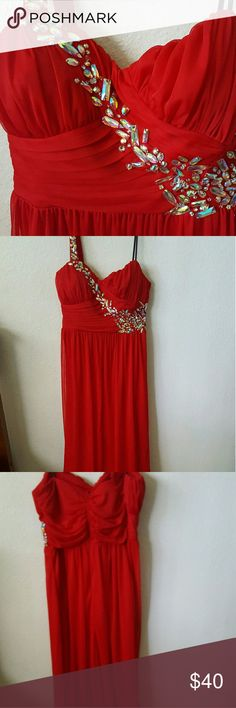 City Triangle Prom Dress Good condition.  Has a single shoulder strap.  Its a long dress Size 13 City Triangles Dresses Prom