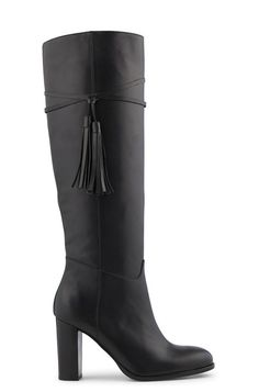 Bottes femme cuir Minelli Heeled Boots, Shoe Boots, Fashion Shoes, High Heels, Shopping, Fall Boots, Style, Happy, Pom Poms