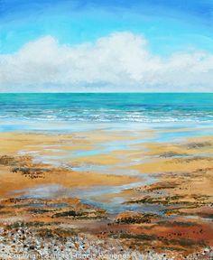 Beach Textures - Acrylic www.sandrafrancis.com