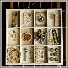 sigh...love this assemblage...would be fun to do a series of these in different color hues??